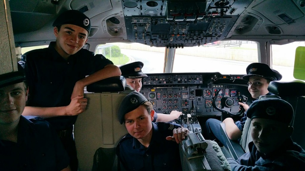 Cadets visiting Manchester Airport