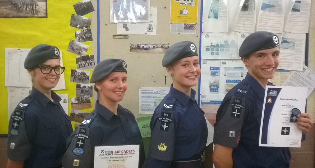 Cadets and Junior NCOs receiving promotions